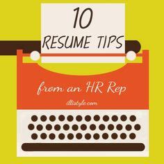 One page resume tips